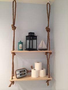 Rope Shelf by KnockOnWoodCustoms on Etsy, $49.00
