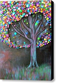 Button Tree by Monica Furlow; using for inspiration for my creation Button Tree by Monica Furlow; using for inspiration for my creation Button Tree by Monica Furlow; using for inspiration for my creation Tree Crafts, Fun Crafts, Diy Arts And Crafts, Can Tab Crafts, Stick Crafts, Shape Crafts, Button Tree Art, Button Art On Canvas, Art Diy