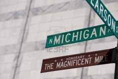 Image detail for -Chicago, Michigan Avenue Street Sign Royalty Free Stock Photo ...