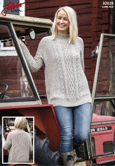 92028 Cable sweater pattern by Sanna Mård Castman Knitting Patterns Free, Knit Patterns, Free Knitting, Free Pattern, Sweater Patterns, Knitting Ideas, Cable Sweater, Cable Knit, T Shirts For Women