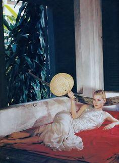 Good Morning Vietnam: Kate Moss by Bruce Weber for Vogue US June 1996