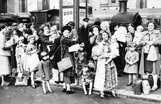"""Mothers and child evacuees at Victoria Station, 2nd Sept 1939. Although there were many """"atrocity"""" stories in the press about Evacuation, there were also heart-warming ones like that sent by Mrs E A Hemming of Hockley, Birmingham to """"Picture Post"""": My son, just 6 years old, has been evacuated to Monmouth, South Wales. I went to see him on Sunday, and I can't really express my gratitude and how much I appreciate the kindness shown to him and myself in the wonderful way in which we were…"""