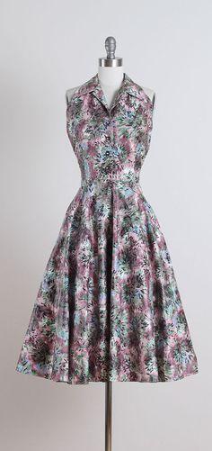 Battersea Park . vintage 1950s dress . by millstreetvintage