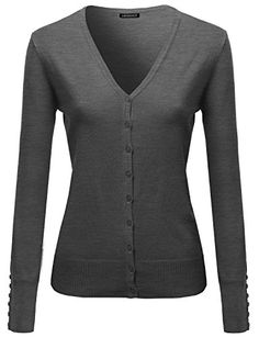 Basic Solid V Neck Sweater Cardigans Charcoal Size L Awesome21 http://www.amazon.com/dp/B00WFFA2LK/ref=cm_sw_r_pi_dp_dfyNvb1EBMD9V