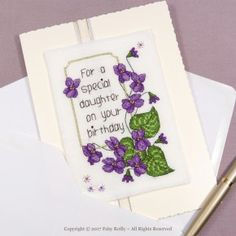 Violet Card - Faby Reilly Designs