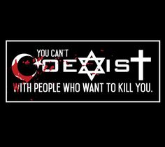Coexist 3x9 inch decal