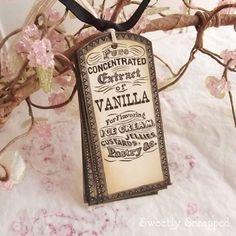 Vintage+Label+Vanilla+Extract+Baking+Tags+door+SweetlyScrappedArt,+$3.75