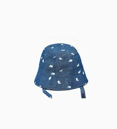 FISHERMAN HAT WITH LITTLE WHALES