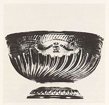 The very first Stanley Cup was a decorative punch bowl purchased from England and was made of silver