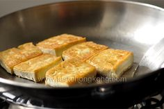 How to Pan-Fry Tofu with Crust is Easy- little to no oil needed! Lots of protein and great for Asian dishes