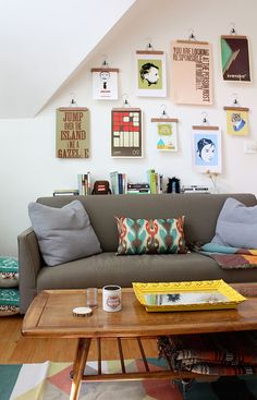 sofa and hangers