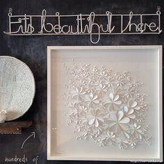 White 3D Flower wall art