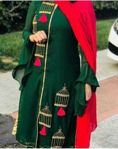 Best Trendy Outfits Part 22 Embroidery On Clothes, Embroidery Fashion, Embroidery Dress, Hand Embroidery, Punjabi Suits Designer Boutique, Indian Designer Suits, Indian Suits, Indian Dresses, Embroidery Suits Punjabi