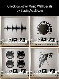 Mixing Console Sliders Wall Decal Black- FL Studio Recording Studio Music Producer Audio Waves Logic Pro by Marcos Crespo for Blazing Vault - intromedia filming and photos - Music Studio Decor, Home Studio Music, Music Decor, Home Studio Setup, Wall Stickers, Wall Decals, Waves Audio, Sound Waves, Home Music