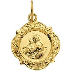 14kt Yellow Gold 12.14x12.09mm St. Anthony Medal | 1.14 Grams | Jewelry Series: R16992
