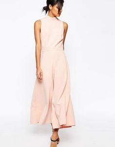 Image 1 ofASOS Jumpsuit with Culotte Leg and High Neck