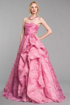 Strapless Gown Oscar De La Renta