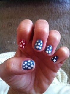 patriotic nail polish {love the polka dots}