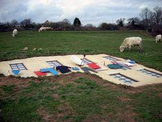 Cornelia Konrad -Shelter, 2007 Cornelia Konrads, Picnic Blanket, Outdoor Blanket, Land Art, Shelter, Picnic Quilt