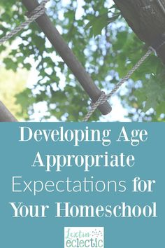 Do you need help developing age appropriate expectations for your homeschooler? Read these great tips!
