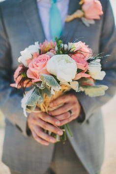 Coral Rustic Wedding
