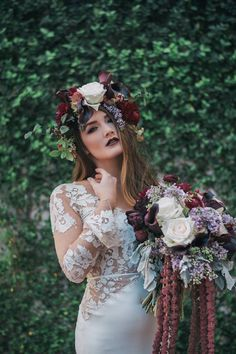 Photographed by Kristen Weaver and Gabe Emilio Cortese Concept by Priscilla Peralta Vendors: Grand Bohemian Hotel Orlando, An Affair to Remember, Swag Decor, Lee Forrest Design LLC, Girl with a Serious Dream, Calvet Couture Bridal, Absolutely Fitting, Claire Pettibone, Hayley Paige, Wedding Paper Divas, KEJ Productions, That's A Wrap, A Girl and Her Glitter, Jillian Caro Hair & Make-Up Artist, Modern Muse