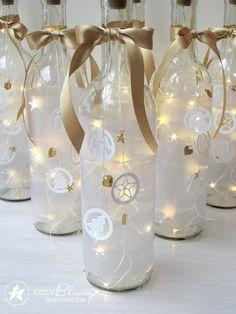 Home Cratfs - Welcome Crafts Home Diy Bottle, Wine Bottle Crafts, Mason Jar Crafts, Mason Jar Diy, Bottle Art, Jar Lights, Bottle Lights, Diy Craft Projects, Diy Crafts