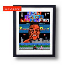 Mike Tyson's Punch-Out Nintendo NES 8-bit Video Game Retro 80's Print Custom Art Poster King Hippo Mac New York Tyson Punch Out on Wanelo