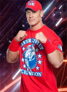 John Cena in red, white, and blue.