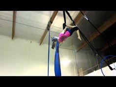 Aerial Silk: Slack Drop into Diaper Drop