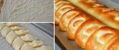 Recept Tvarohový nastříhaný závin Hot Dog Buns, Hot Dogs, Ricotta, Bread, Sweet, Food, Basket, Food And Drinks, Candy