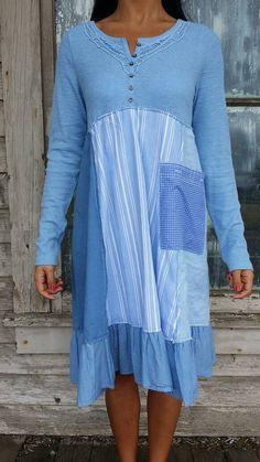 Carly dress-medium large-artsy-Eco clothing-upcycled