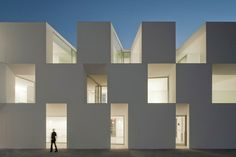 Nursing home in Alcacer do Sal Portugal. By Portuguese studio Aires Mateus Arquitectos. Architecture Cool, Contemporary Architecture, Classical Architecture, Landscape Architecture, Architecture Artists, Nice Landscape, Industrial Architecture, Architecture Portfolio, Alcacer Do Sal