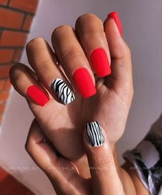 Minimalist Nails, Kylie Nails, Gel Nails, Beauty Hacks Nails, Nail Art Designs Videos, Red Nail Designs, Fire Nails, Best Acrylic Nails, Dream Nails