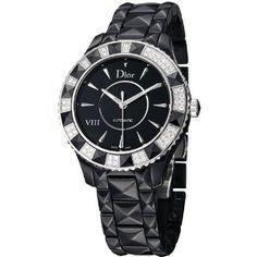 Christian Dior Black Eight Ladies Black Ceramic Diamond Automatic Watch CD1245E1C001
