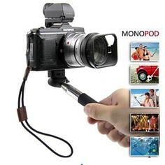 Bastão Monopod com Adaptador de iPhone - Tire selfie com facilidade