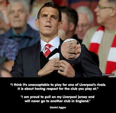 Daniel Agger...Red Heart to the core Ynwa x