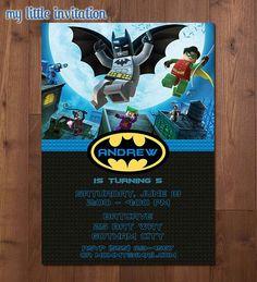Lego Batman and Robin Superhero Birthday by MyLittleInvitation