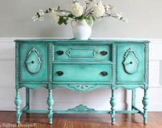 Antique Jacobean Hand Painted French by FrenchCountryDesign