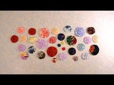 Fabric Yo-Yos and Suffolk Puffs - THE BEST VIDEO TUTORIAL FOR MAKING SQUARE FABRIC YO-YOS!