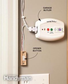 Install a device that signals your garage door opener to close the door after a predetermined amount of time in case you forget to close the garage.