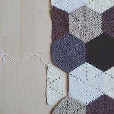 Sechseck Häkeln Simple Hexagon Häkeln Macht Glücklich Crochet