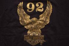 Harley Davidson Gold Foil Eagle Logo Raglan T-shirt/Sweatshirt, Vintage Motorcycles, Holoubek, Phantom Harley Davidson Logo, Vintage Harley Davidson, Bike Logo, Eagle Logo, Thing 1, Gold Foil, Vulnerability, Diana, Biker