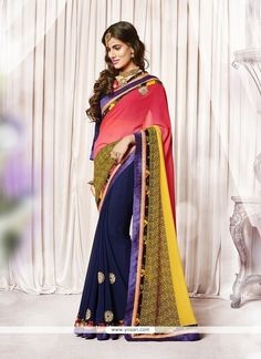Luxurious Georgette Embroidered Work Designer Saree Model: YOSAR6474