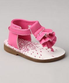 Take a look at this Pink Ruffle Sandal  by Baby Deer on #zulily today!