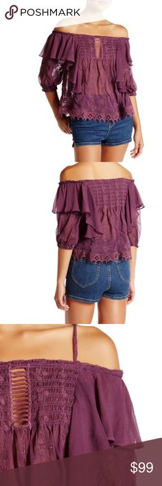 Coming soon Free People lace top NWT size Med FREE PEOPLE lace top NWT size Med Free People Tops Blouses