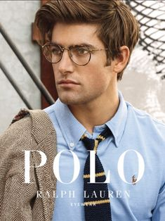 Ralph Lauren Looks, Ralph Lauren Style, Polo Ralph Lauren, Black Men Street Fashion, Preppy Mens Fashion, Der Gentleman, Gentleman Style, Preppy Hairstyles, Ralph Lauren Glasses