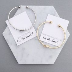 Will you be my bridesmaid/thank you for helping me tie the knot bracelet