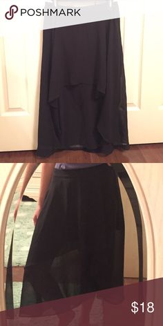Jessica Simpson Black Layered Chiffon Skirt Cute, flowy black layered skirt. Size medium. In great condition. No stains, rips, or holes. Smoke free home. Jessica Simpson Skirts
