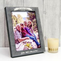 Personalised Stone Effect Family Photo Frame by Urban Twist, the perfect gift for Explore more unique gifts in our curated marketplace. Family Photo Frames, Family Photos, Personalized Photo Frames, Special Text, Print Your Photos, Frame Stand, On The High Street, Family Gifts, How To Memorize Things